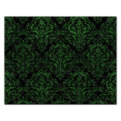 Damask1 Black Marble & Green Leather Rectangular Jigsaw Puzzl