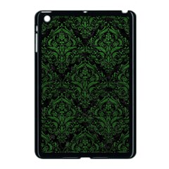 Damask1 Black Marble & Green Leather Apple Ipad Mini Case (black) by trendistuff