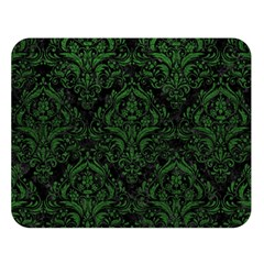 Damask1 Black Marble & Green Leather Double Sided Flano Blanket (large)  by trendistuff