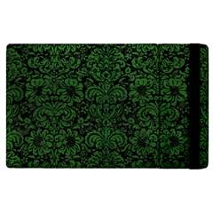 Damask2 Black Marble & Green Leather Apple Ipad Pro 12 9   Flip Case by trendistuff