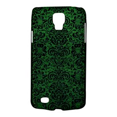 Damask2 Black Marble & Green Leather (r) Galaxy S4 Active