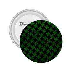 Houndstooth2 Black Marble & Green Leather 2 25  Buttons