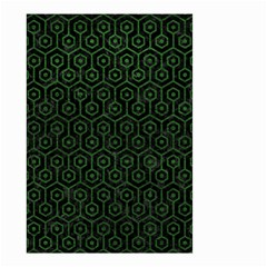 Hexagon1 Black Marble & Green Leather Small Garden Flag (two Sides) by trendistuff