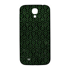 Hexagon1 Black Marble & Green Leather Samsung Galaxy S4 I9500/i9505  Hardshell Back Case by trendistuff