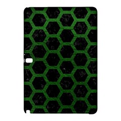 Hexagon2 Black Marble & Green Leather Samsung Galaxy Tab Pro 12 2 Hardshell Case by trendistuff