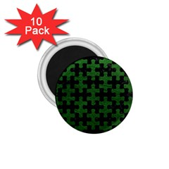 Puzzle1 Black Marble & Green Leather 1 75  Magnets (10 Pack)