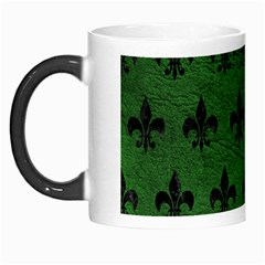 Royal1 Black Marble & Green Leather Morph Mugs by trendistuff