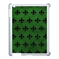 Royal1 Black Marble & Green Leather Apple Ipad 3/4 Case (white) by trendistuff