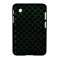 Scales1 Black Marble & Green Leather Samsung Galaxy Tab 2 (7 ) P3100 Hardshell Case  by trendistuff
