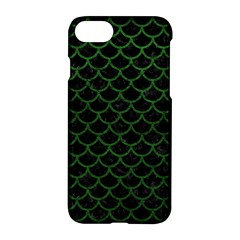 Scales1 Black Marble & Green Leather Apple Iphone 7 Hardshell Case by trendistuff