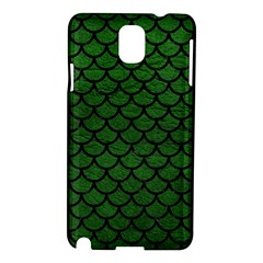 Scales1 Black Marble & Green Leather (r) Samsung Galaxy Note 3 N9005 Hardshell Case