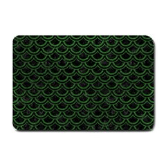 Scales2 Black Marble & Green Leatherscales2 Black Marble & Green Leather Small Doormat  by trendistuff