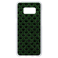 Scales2 Black Marble & Green Leatherscales2 Black Marble & Green Leather Samsung Galaxy S8 White Seamless Case by trendistuff