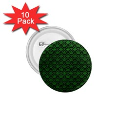 Scales2 Black Marble & Green Leather (r) 1 75  Buttons (10 Pack) by trendistuff