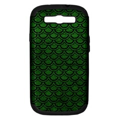 Scales2 Black Marble & Green Leather (r) Samsung Galaxy S Iii Hardshell Case (pc+silicone) by trendistuff