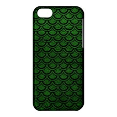 Scales2 Black Marble & Green Leather (r) Apple Iphone 5c Hardshell Case by trendistuff