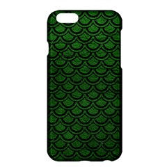 Scales2 Black Marble & Green Leather (r) Apple Iphone 6 Plus/6s Plus Hardshell Case by trendistuff