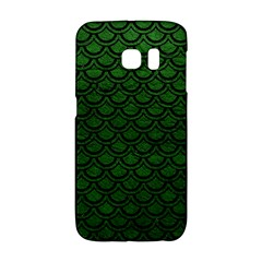 Scales2 Black Marble & Green Leather (r) Galaxy S6 Edge by trendistuff