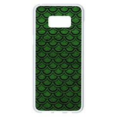 Scales2 Black Marble & Green Leather (r) Samsung Galaxy S8 Plus White Seamless Case by trendistuff