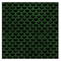 Scales3 Black Marble & Green Leather Large Satin Scarf (square) by trendistuff