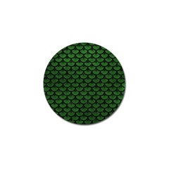 Scales3 Black Marble & Green Leather (r) Golf Ball Marker by trendistuff