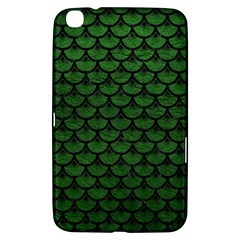 Scales3 Black Marble & Green Leather (r) Samsung Galaxy Tab 3 (8 ) T3100 Hardshell Case