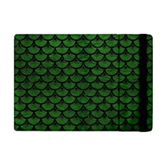 Scales3 Black Marble & Green Leather (r) Ipad Mini 2 Flip Cases by trendistuff