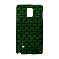 Scales3 Black Marble & Green Leather (r) Samsung Galaxy Note 4 Hardshell Case by trendistuff