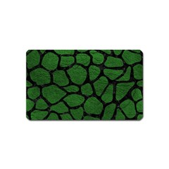Skin1 Black Marble & Green Leather Magnet (name Card) by trendistuff