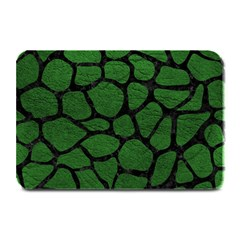 Skin1 Black Marble & Green Leather Plate Mats by trendistuff
