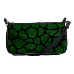 Skin1 Black Marble & Green Leather Shoulder Clutch Bags by trendistuff