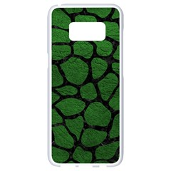 Skin1 Black Marble & Green Leather Samsung Galaxy S8 White Seamless Case by trendistuff