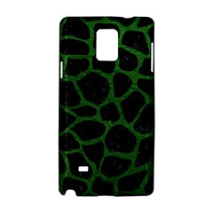 Skin1 Black Marble & Green Leather (r) Samsung Galaxy Note 4 Hardshell Case