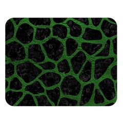 Skin1 Black Marble & Green Leather (r) Double Sided Flano Blanket (large)  by trendistuff