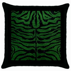 Skin2 Black Marble & Green Leather (r) Throw Pillow Case (black) by trendistuff