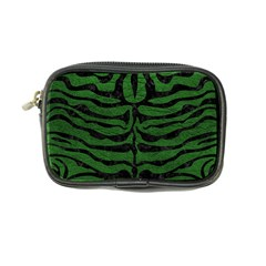 Skin2 Black Marble & Green Leather (r) Coin Purse