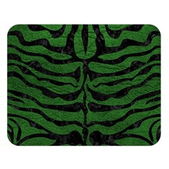 Skin2 Black Marble & Green Leather (r) Double Sided Flano Blanket (large)  by trendistuff