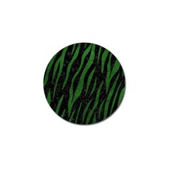 Skin3 Black Marble & Green Leather Golf Ball Marker by trendistuff