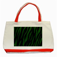 Skin3 Black Marble & Green Leather Classic Tote Bag (red) by trendistuff