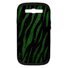 Skin3 Black Marble & Green Leather Samsung Galaxy S Iii Hardshell Case (pc+silicone) by trendistuff