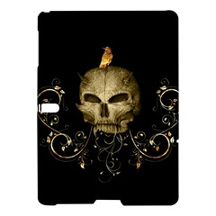 Golden Skull With Crow And Floral Elements Samsung Galaxy Tab S (10 5 ) Hardshell Case  by FantasyWorld7