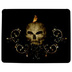 Golden Skull With Crow And Floral Elements Jigsaw Puzzle Photo Stand (rectangular) by FantasyWorld7