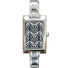 Art Deco, Black,white,graphic Design,vintage,elegant,chic Rectangle Italian Charm Watch by 8fugoso