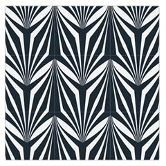 Art Deco, Black,white,graphic Design,vintage,elegant,chic Large Satin Scarf (square) by 8fugoso