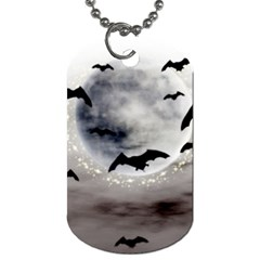 Bats On  The Moon Dog Tag (two Sides) by AllOverIt