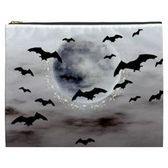 Bats On  The Moon Cosmetic Bag (xxxl)  by AllOverIt
