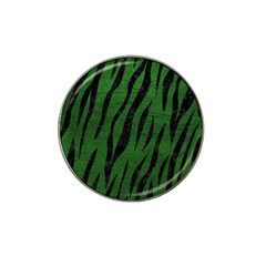 Skin3 Black Marble & Green Leather (r) Hat Clip Ball Marker (4 Pack)