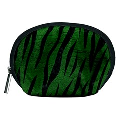 Skin3 Black Marble & Green Leather (r) Accessory Pouches (medium)  by trendistuff