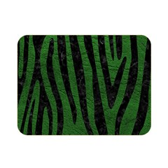 Skin4 Black Marble & Green Leather Double Sided Flano Blanket (mini)  by trendistuff