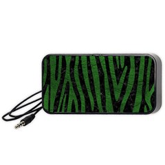 Skin4 Black Marble & Green Leather (r) Portable Speaker by trendistuff